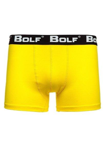 Žluté pánské boxerky Bolf 0953-3P 3 PACK