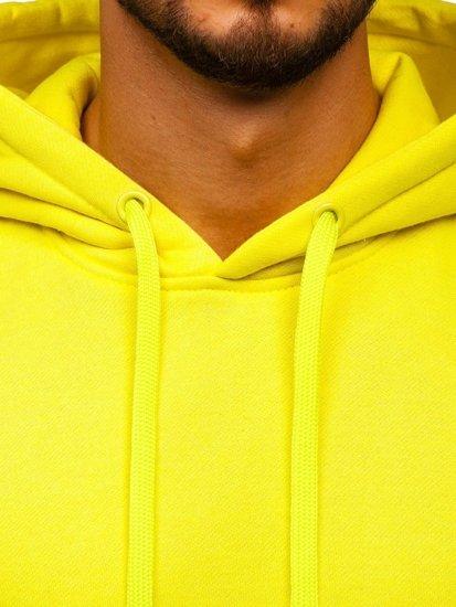 Žluto-neonová pánská mikina s kapucí Bolf 2009