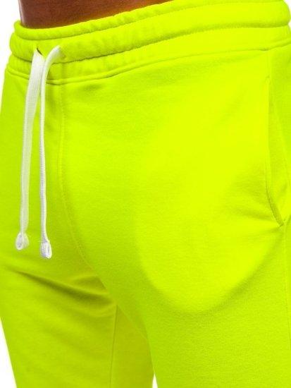 Žluto-neonové pánské tepláky Bolf 11121