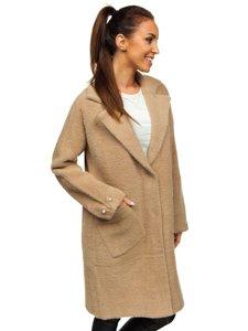 Béžový dámský kabát Bolf 20737