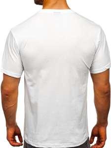 Bílé pánské tričko s potiskem Bolf 1171