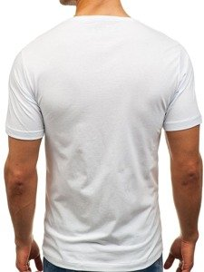 Bílé pánské tričko s potiskem Bolf 6297