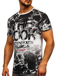 Bílé pánské tričko s potiskem Bolf JS627