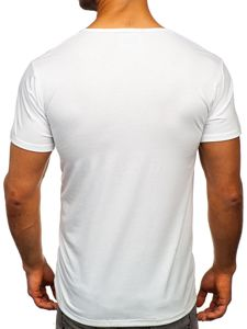 Bílé pánské tričko s potiskem Bolf KS1946