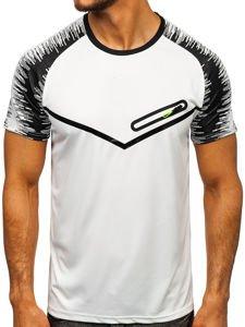 Bílé pánské tričko s potiskem Bolf KS2071