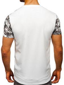 Bílé pánské tričko s potiskem Bolf SS10999
