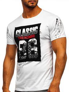 Bílé pánské tričko s potiskem Bolf SS218