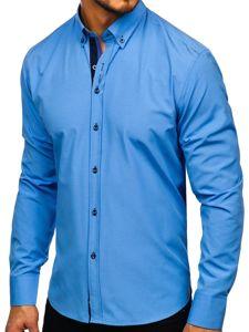 Blankytná pánská elegantní košile s dlouhým rukávem Bolf 8840-1