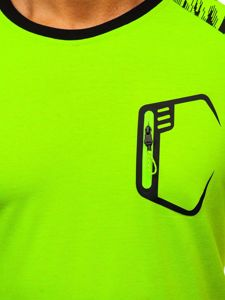 Celadonové pánské sportovní tričko s potiskem Bolf KS2072