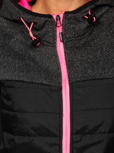 Černá dámská sportovní přechodová bunda Bolf KSW4002