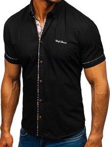 Černá pánská elegantní košile s krátkým rukávem Bolf 5509-1