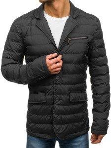 Černá pánská elegantní přechodová bunda Bolf 392