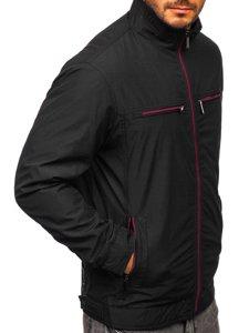 Černá pánská elegantní přechodová bunda Bolf 6362
