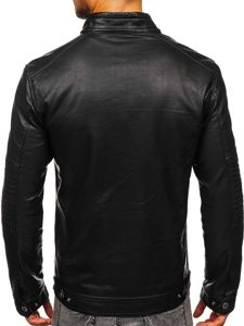 Černá pánská koženková bunda biker Bolf 2002