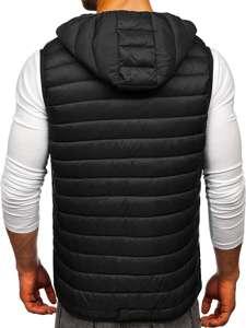 Černá pánská mikina na zip s kapucí Bolf LY36