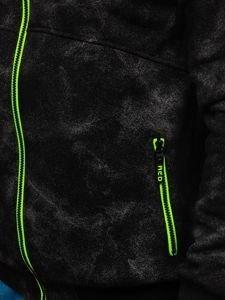Černá pánská mikina na zip s kapucí Bolf W1566