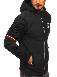 Černá pánská mikina s kapucí Bolf YL006