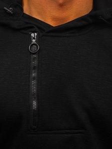 Černá pánská mikina s kapucí a potiskem Bolf YD88031