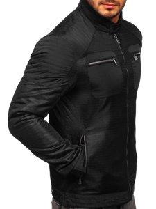 Černá pánská přechodová bunda Bolf 1702
