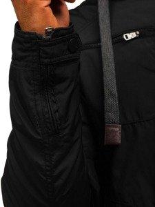 Černá pánská přechodová bunda Bolf 1724
