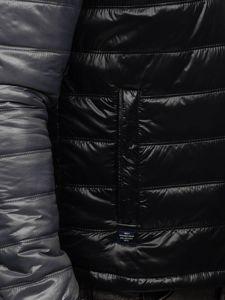 Černá pánská prošívaná přechodová bunda Bolf 6111