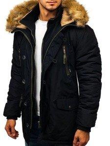 Černá pánská zimní parka Bolf 1045
