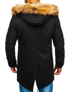 Černá pánská zimní parka Bolf JK391