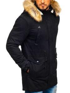 Černá pánská zimní parka Bolf JK392