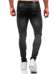 Černé pánské džíny skinny fit Bolf KA1869