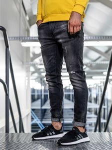 Černé pánské džíny slim fit Bolf KX320