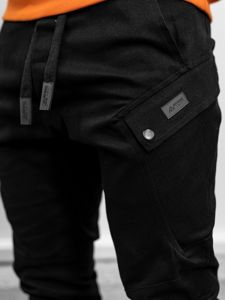 Černé pánské jogger kalhoty Bolf 11103