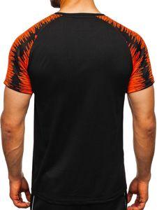 Černé pánské sportovní tričko s potiskem Bolf KS2072