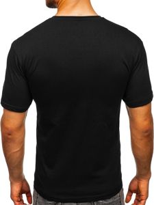 Černé pánské tričko s potiskem Bolf 14315