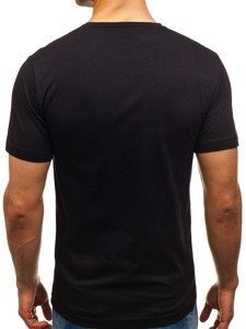 Černé pánské tričko s potiskem Bolf 6297