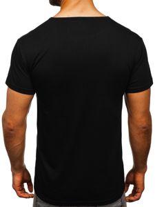 Černé pánské tričko s potiskem Bolf KS1983