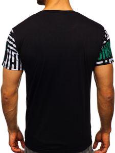 Černé pánské tričko s potiskem Bolf KS2020