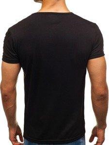 Černé pánské tričko s potiskem Bolf SS360