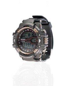 Černo-hnědé pánské hodinky Bolf 8338