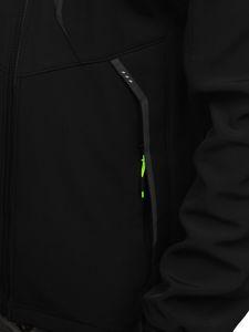 Černo-žlutá pánská softshellová bunda Bolf 12266