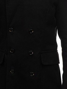 Černý pánský zimní kabát Bolf 1048