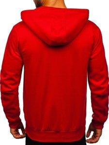 Červená pánská mikina na zip s kapucí Bolf 80502