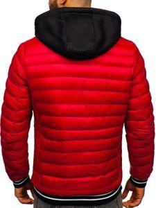 Červená pánská přechodová bunda Bolf 5331