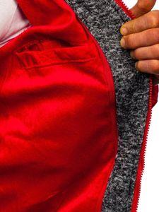 Červená pánská prošívaná sportovní zimní bunda Bolf 50A71