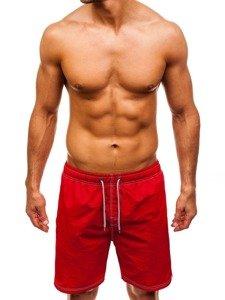 Červené pánské koupací šortky Bolf 82252