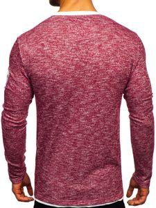 Červené pánské tričko s dlouhým rukávem a potiskem Bolf GK47