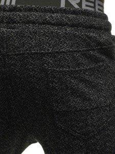 Červeno-šedé pánské tepláky Bolf 2033-8