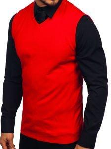 Červený pánský svetr bez rukávů Bolf 2500
