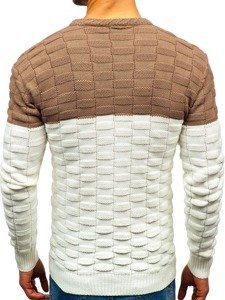 Ecru pánský svetr Bolf 6003