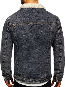 Grafitová pánská džínová bunda Bolf 1109