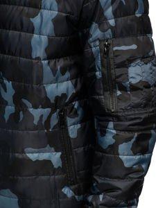 Grafitová pánská maskáčová sportovní přechodová bunda Bolf MY13M
